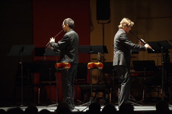 "Valentin Garvie et Sava Stoianov jouent ""Two Cornetti for Valin Garvie"" de Benedict Mason Philippe Stirnweiss"