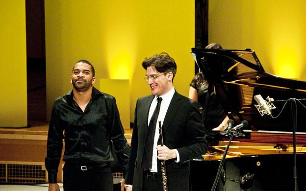 Mario Caroli (flûte) et Wilhem Latchoumia (piano) Camille Roux