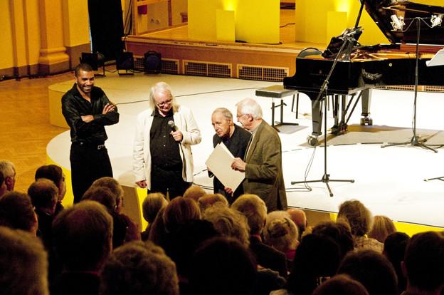 Philippe Manoury, Pierre Boulez et Jean-Marie Lehn Camille Roux