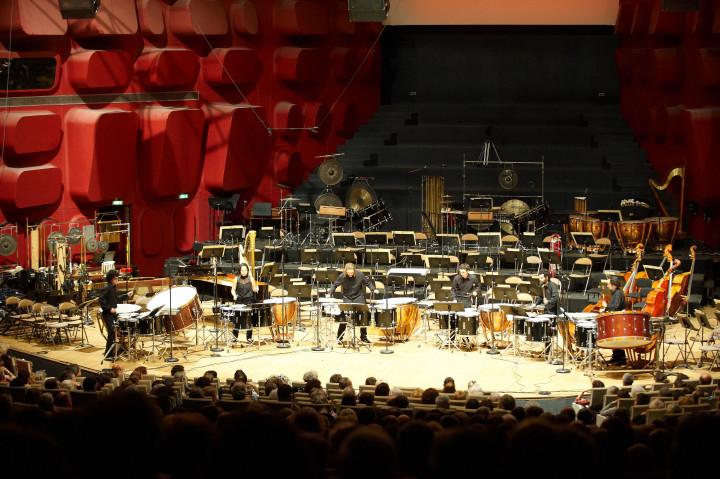 Etudiants percussionnistes du Conservatoire de Strasbourg Philippe Stirnweiss